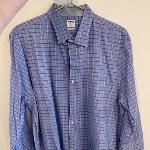 Blue Plaid Bonobos button-down - XL